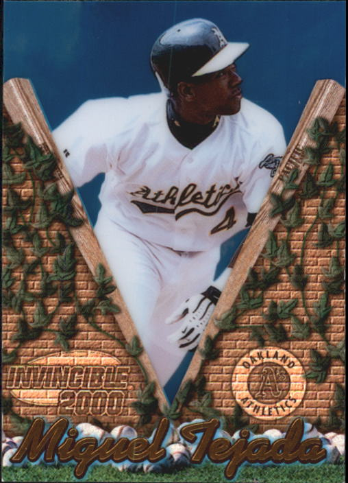 2000 Pacific Invincible #107 Miguel Tejada