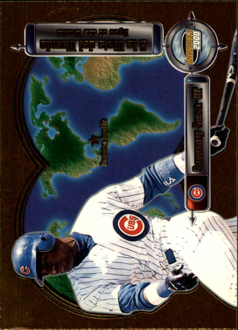 2000 Pacific Invincible Eyes of the World #6 Sammy Sosa