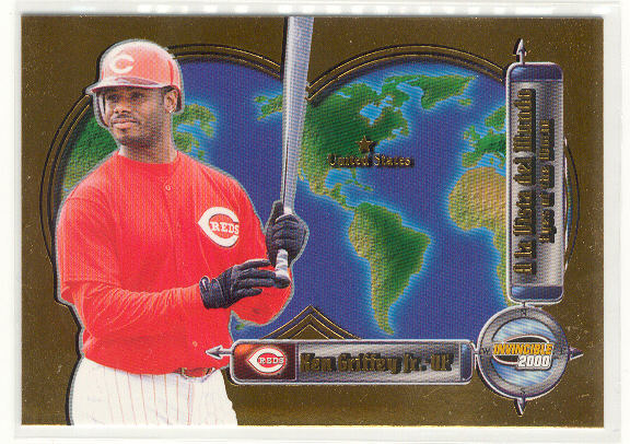 2000 Pacific Invincible Eyes of the World #7 Ken Griffey Jr.
