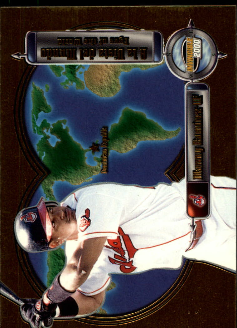 2000 Pacific Invincible Eyes of the World #8 Manny Ramirez