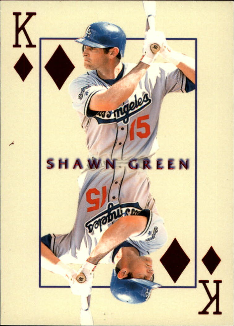 2000 Pacific Invincible Kings of the Diamond #17 Shawn Green