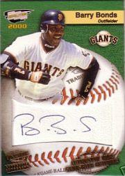 2000 Revolution MLB Game Ball Signatures #21 Barry Bonds