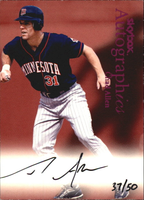 2000 SkyBox Autographics Purple Foil #2 Chad Allen MT