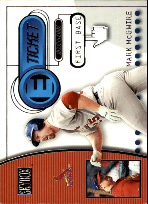 2000 SkyBox E-Ticket #ET6 Mark McGwire