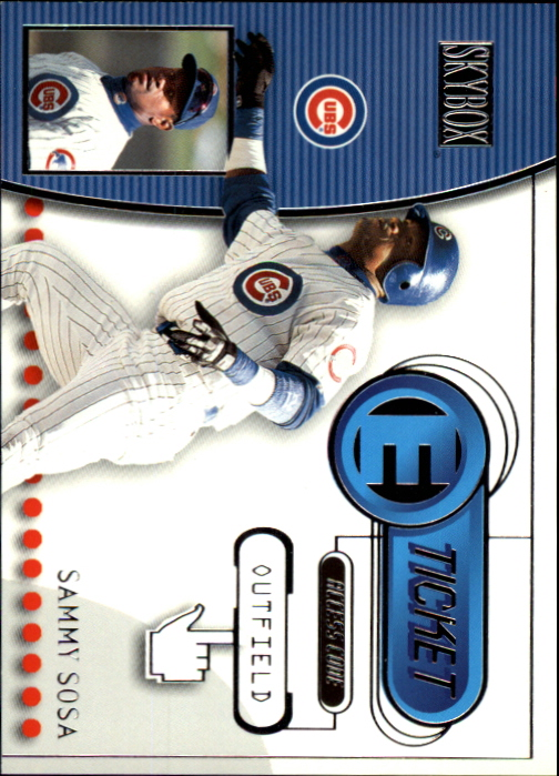 2000 SkyBox E-Ticket #ET7 Sammy Sosa