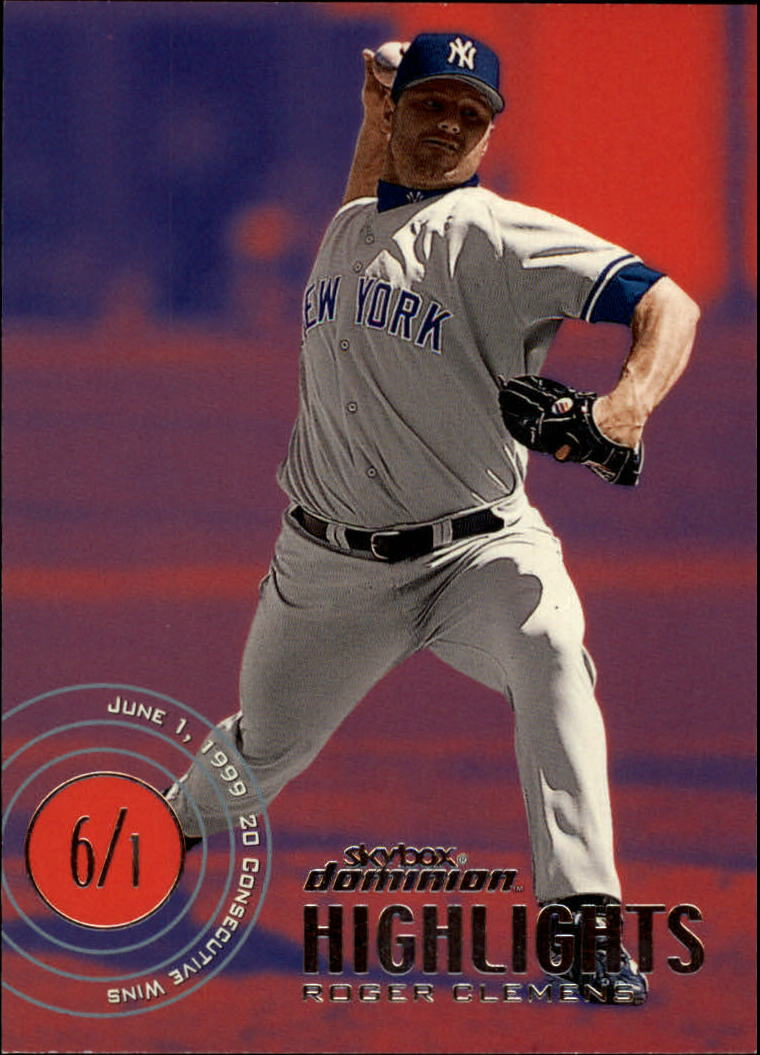 2000 SkyBox Dominion #14 Roger Clemens HL