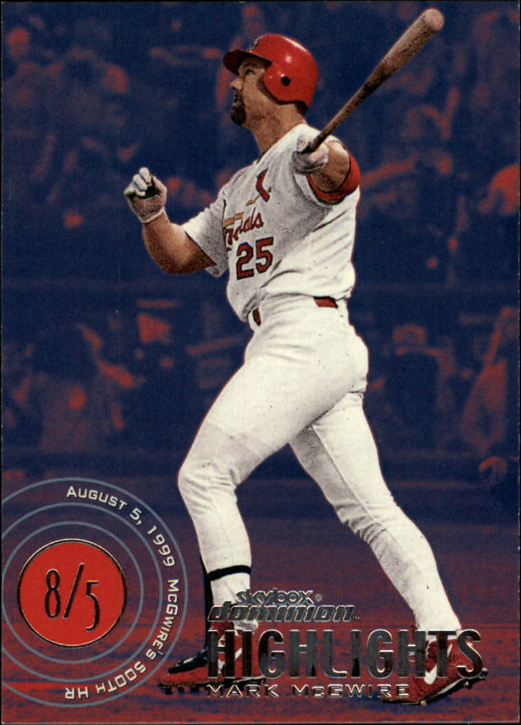 2000 SkyBox Dominion #17 Mark McGwire HL
