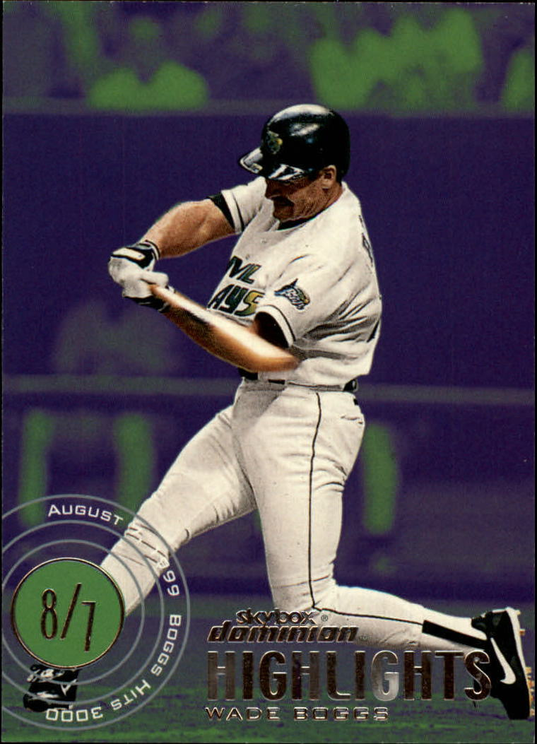 2000 SkyBox Dominion #20 Wade Boggs HL