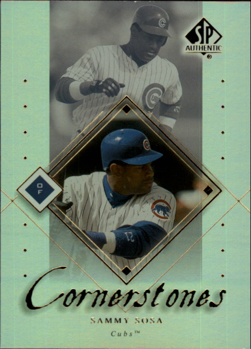 2000 SP Authentic Cornerstones #C7 Sammy Sosa