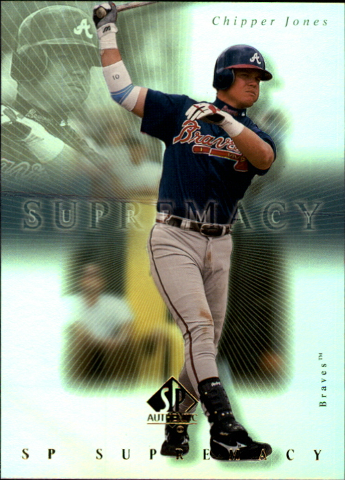 2000 SP Authentic Supremacy #S4 Chipper Jones