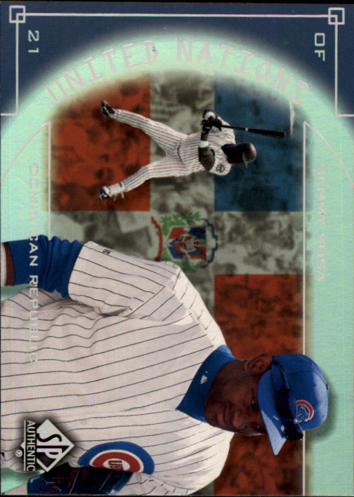 2000 SP Authentic United Nations #UN1 Sammy Sosa