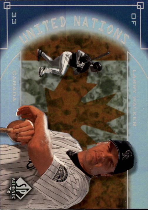 2000 SP Authentic United Nations #UN6 Larry Walker
