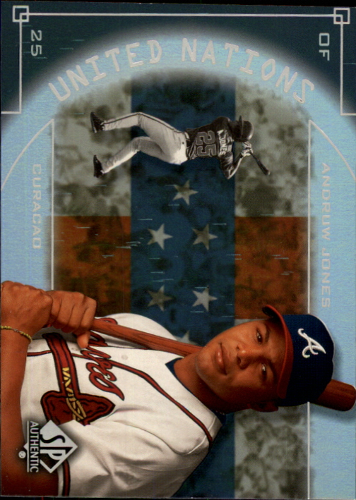 2000 SP Authentic United Nations #UN8 Andruw Jones
