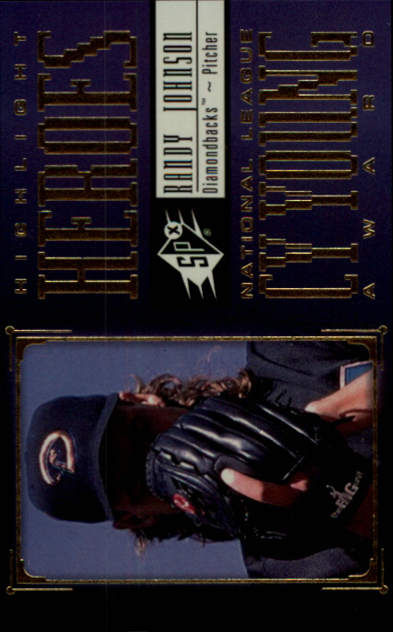 2000 SPx Highlight Heroes #HH6 Randy Johnson