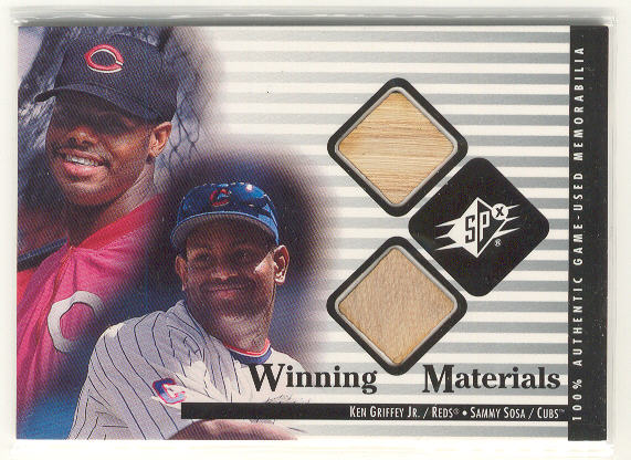 2000 SPx Winning Materials Update #KGSS K.Griffey Jr./S.Sosa