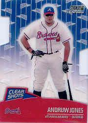 2000 Stadium Club Chrome Clear Shots Refractors #CS6 Andruw Jones