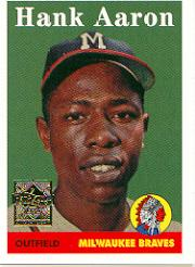 2000 Topps Aaron #5 Hank Aaron 1958