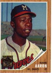2000 Topps Aaron #9 Hank Aaron 1962