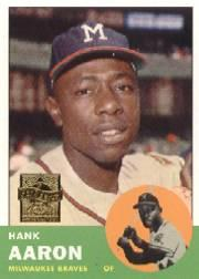 2000 Topps Aaron #10 Hank Aaron 1963