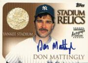 2000 Topps Stadium Autograph Relics #SR1 Don Mattingly Wall