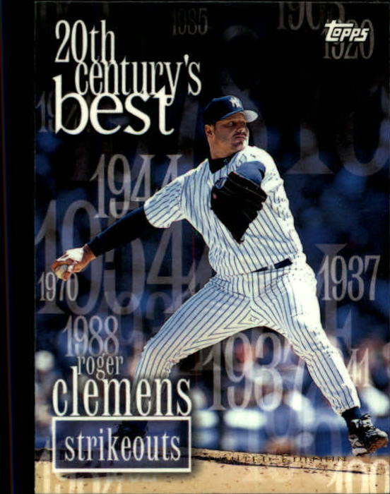 2000 Topps Limited #472 Roger Clemens 20CB