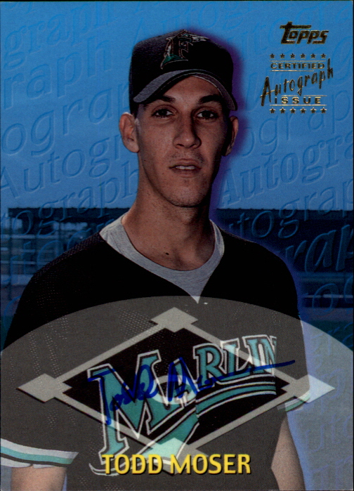 2000 Topps Traded Autographs #TTA7 Todd Moser