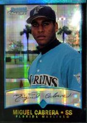 2001 Bowman Chrome X-Fractors #259 Miguel Cabrera UER/Denny Bautista pictured