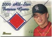 2001 Bowman Chrome Futures Game Relics #FGRCT Chin-Hui Tsao