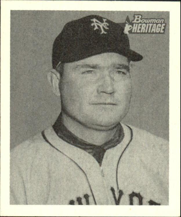 2001 Bowman Heritage 1948 Reprints #2 Johnny Mize