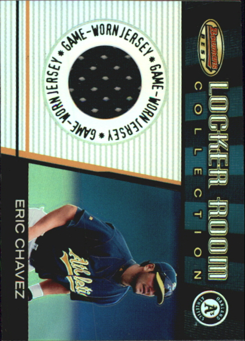 2001 Bowman's Best Locker Room Collection Jerseys #LRCJEC Eric Chavez