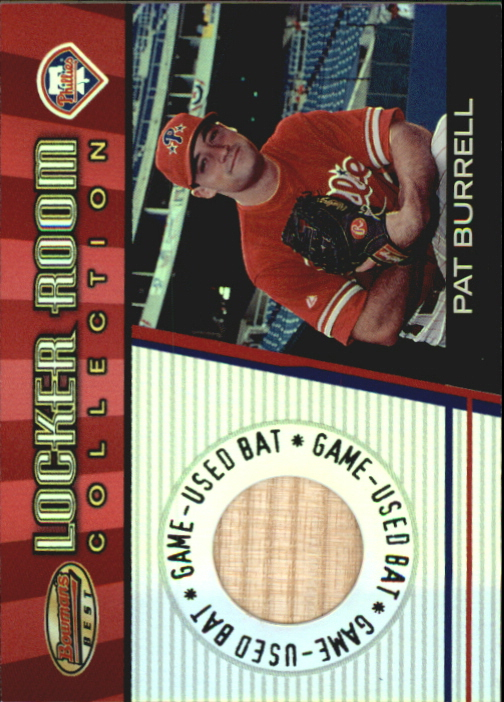 2001 Bowman's Best Locker Room Collection Lumber #LRCLPB Pat Burrell