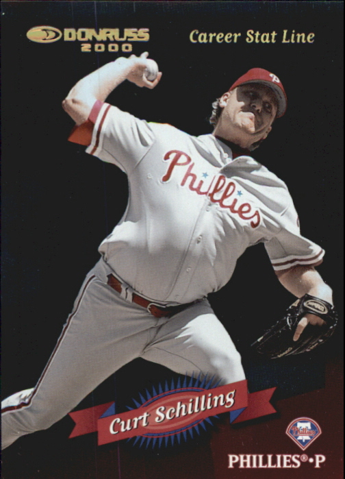 2001 Donruss 2000 Retro Stat Line Career #50 Curt Schilling/338