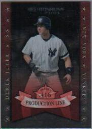 2001 Donruss Production Line #PL18 Derek Jeter OBP/416