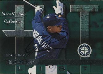 2001 Donruss Recollection Autographs #RC1 A.Rodriguez 97 Don Hit/10