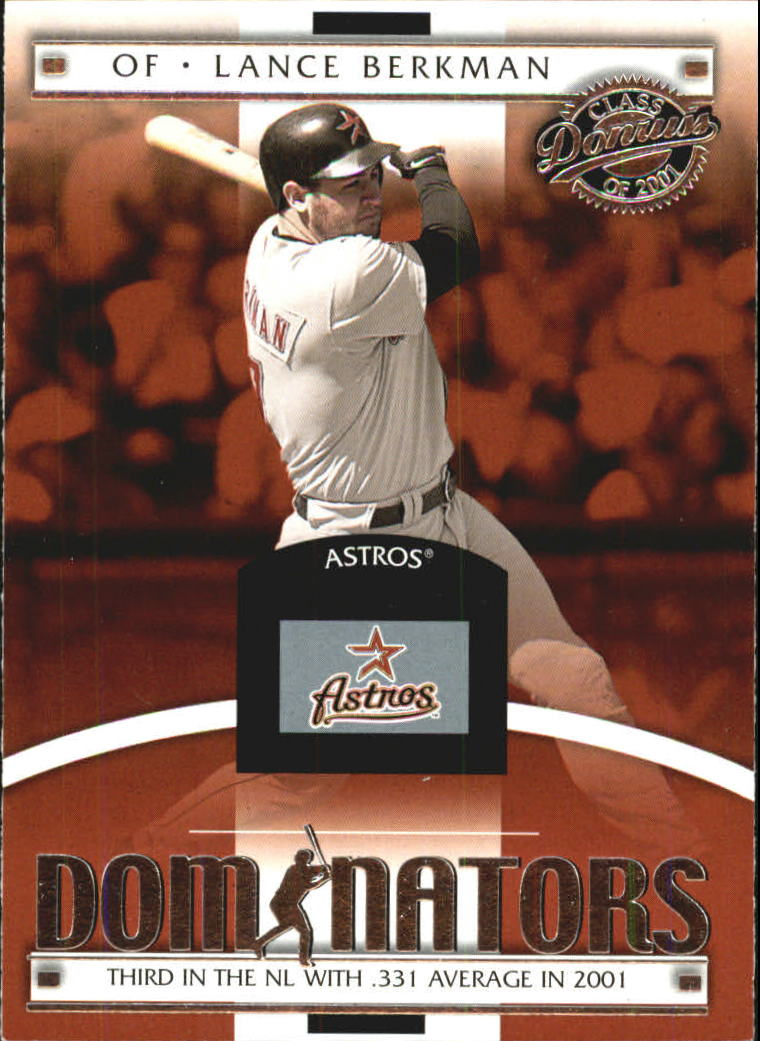 2001 Donruss Class of 2001 Dominators #DM2 Lance Berkman