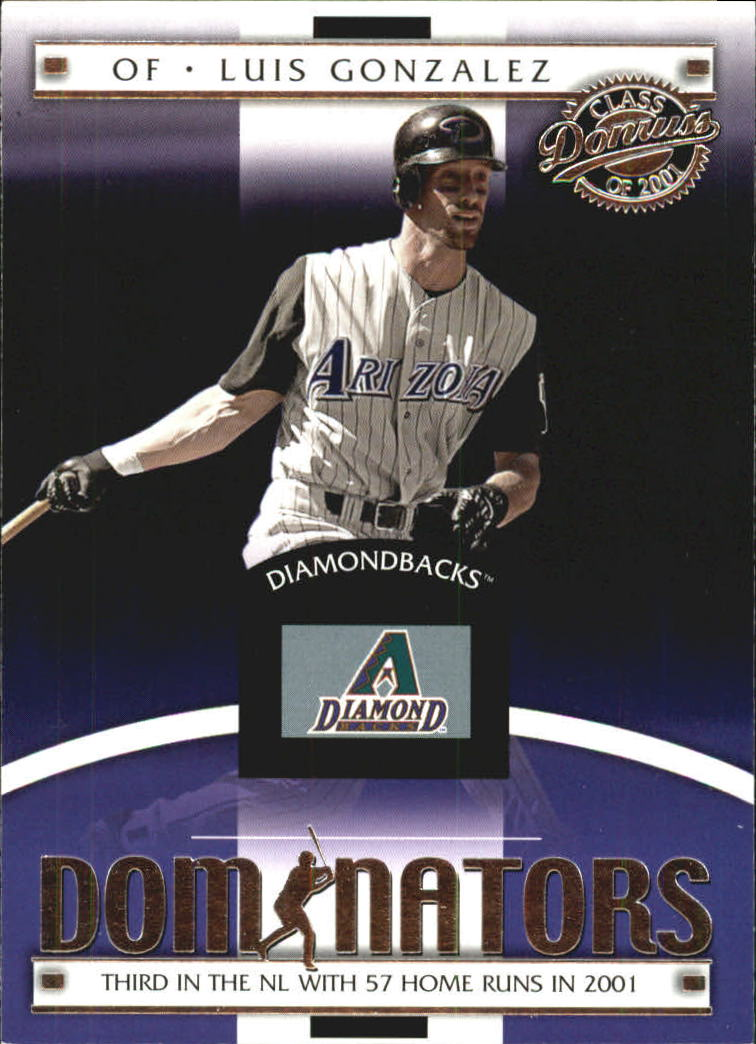 2001 Donruss Class of 2001 Dominators #DM8 Luis Gonzalez