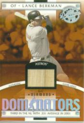 2001 Donruss Class of 2001 Diamond Dominators #DM2 Lance Berkman Bat/725
