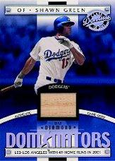 2001 Donruss Class of 2001 Diamond Dominators #DM16 Shawn Green Bat/500
