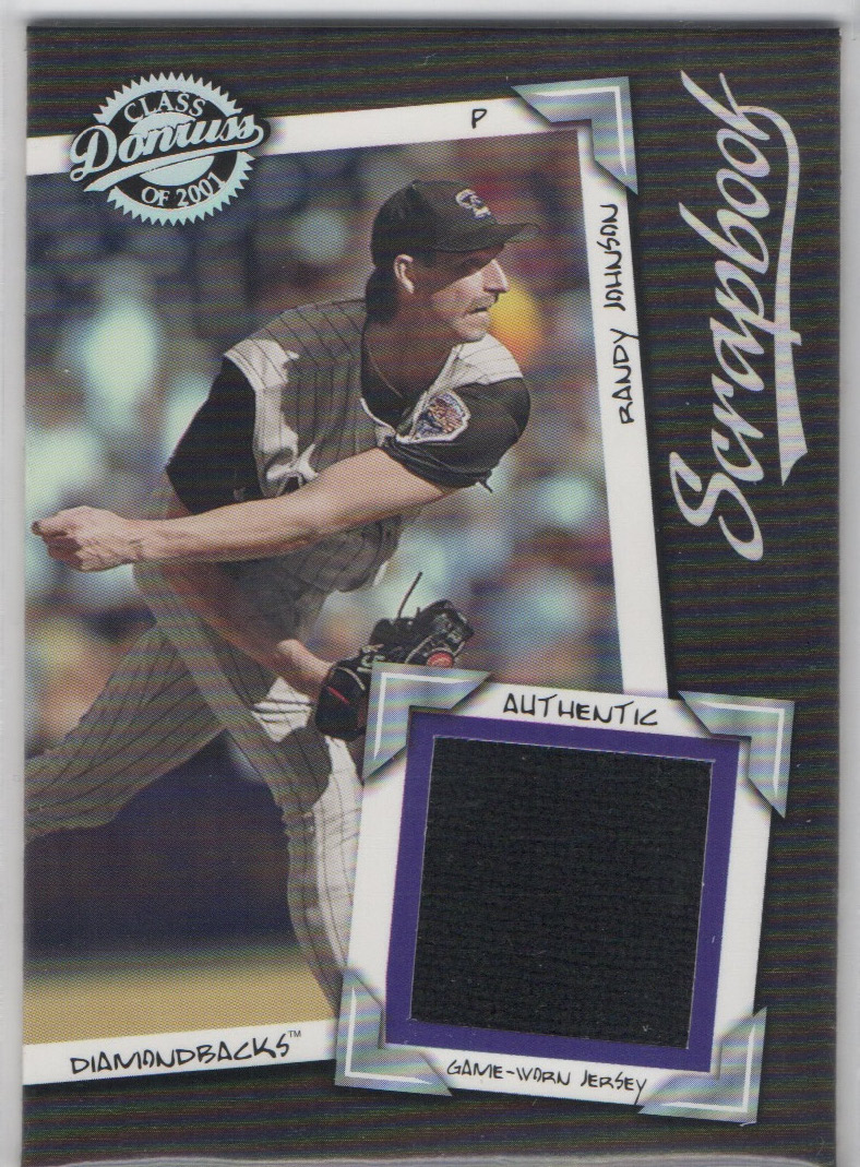 2001 Donruss Class of 2001 Scrapbook #SB14 Randy Johnson/500