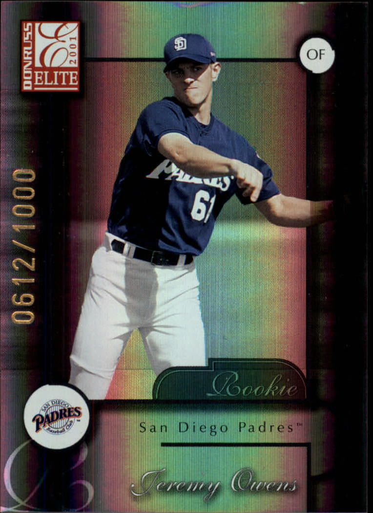 2001 Donruss Elite #182 Jeremy Owens SP RC