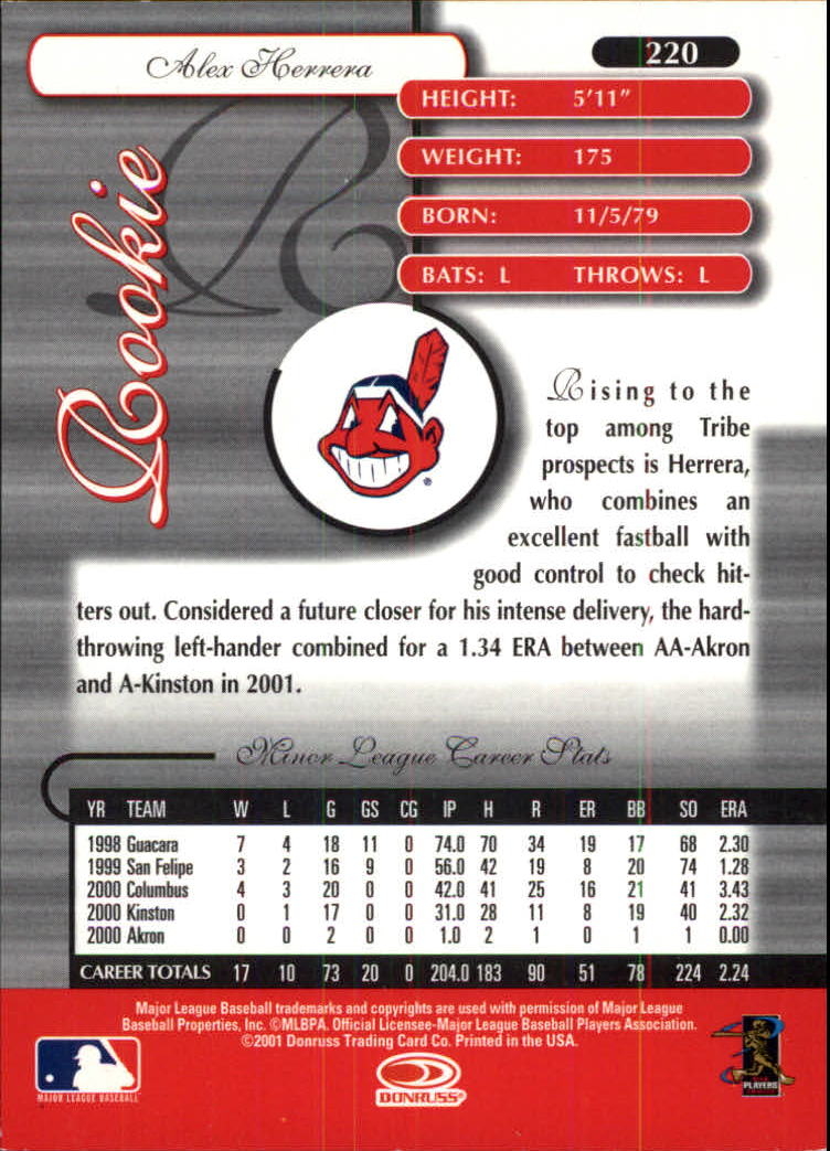 2001 Donruss Elite #220 Alex Herrera/405 XRC