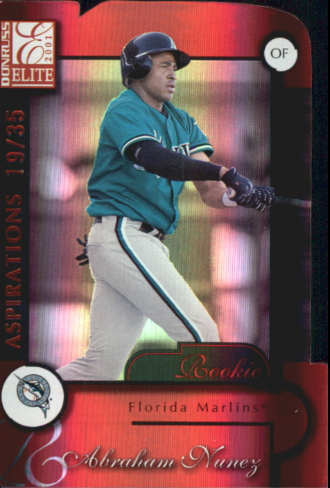 2001 Donruss Elite Aspirations #180 Abraham Nunez/35