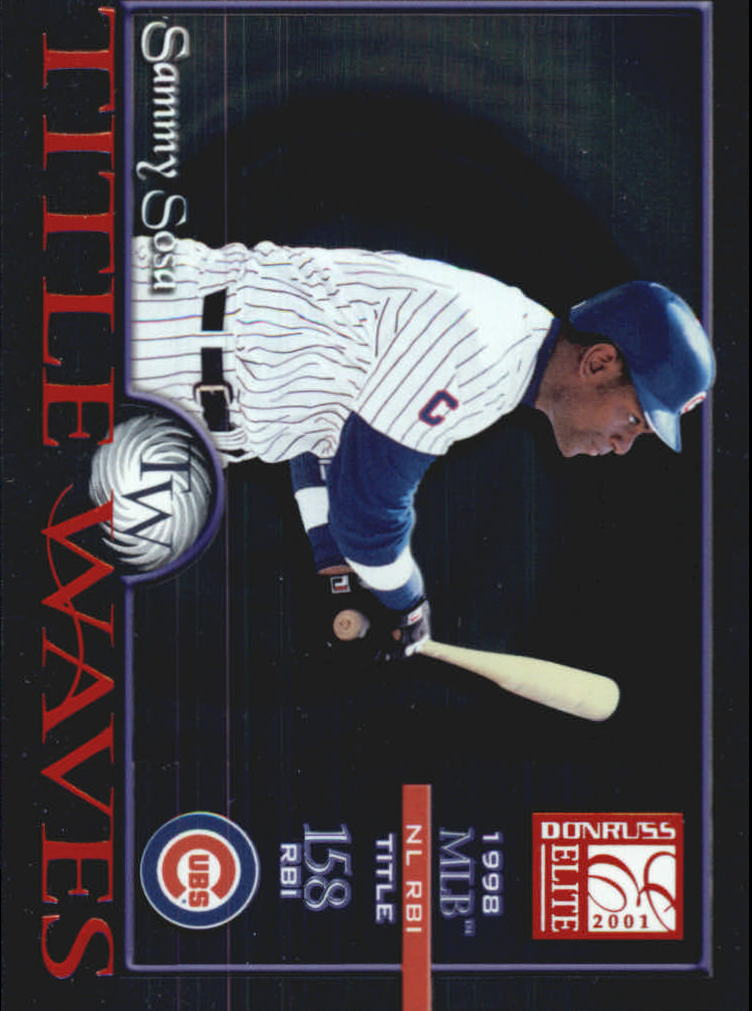2001 Donruss Elite Title Waves #TW14 Sammy Sosa/1998