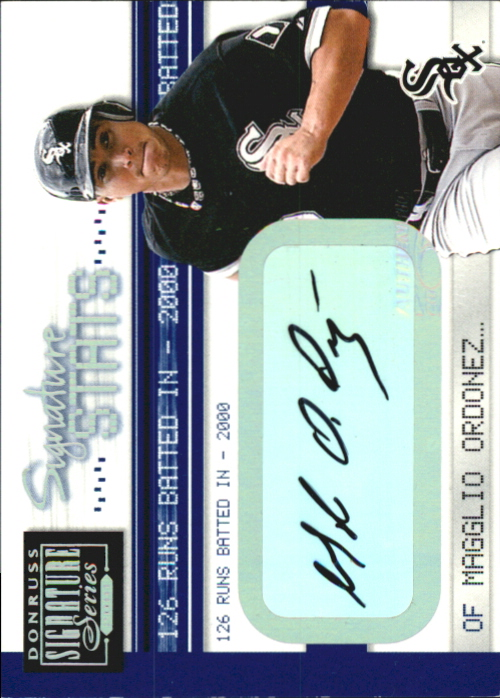 2001 Donruss Signature Stats #36 Magglio Ordonez/126
