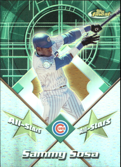 2001 Finest All-Stars #FAS6 Sammy Sosa