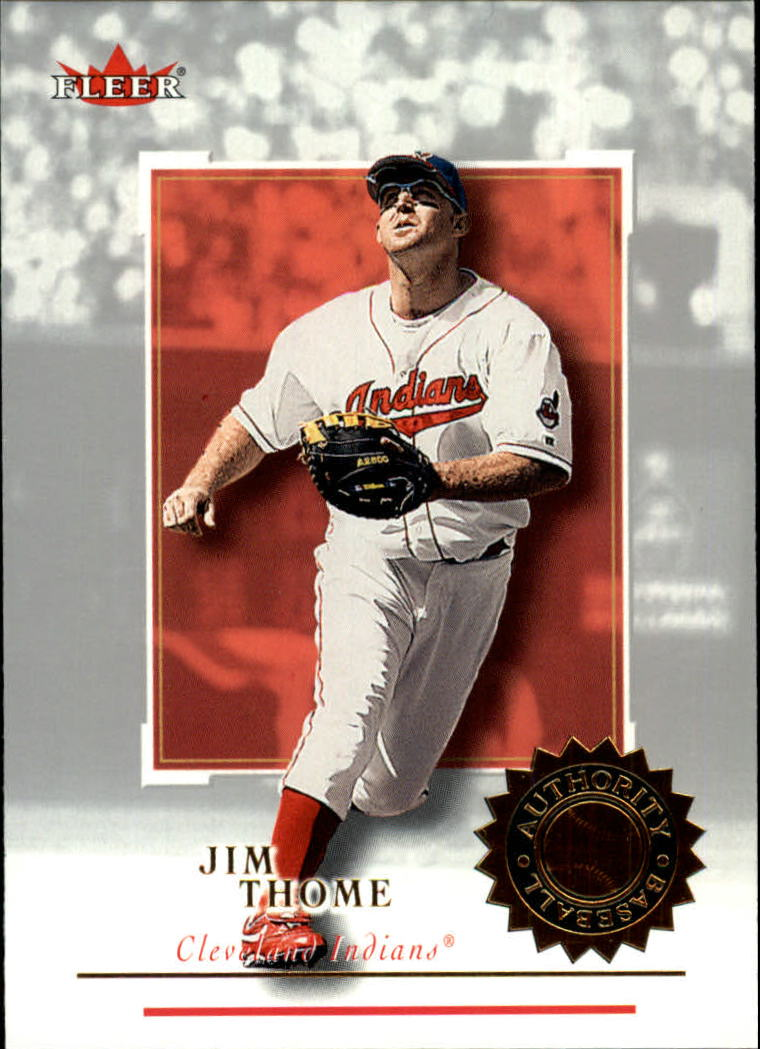 2001 Fleer Authority #4 Jim Thome
