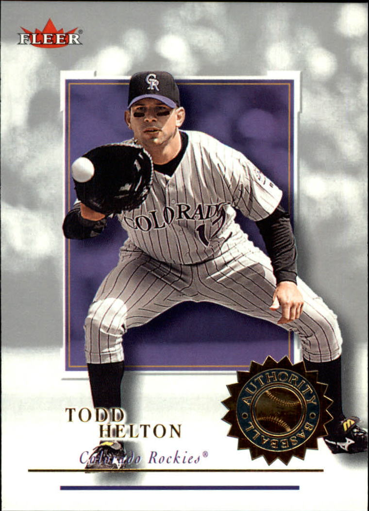 2001 Fleer Authority #5 Todd Helton