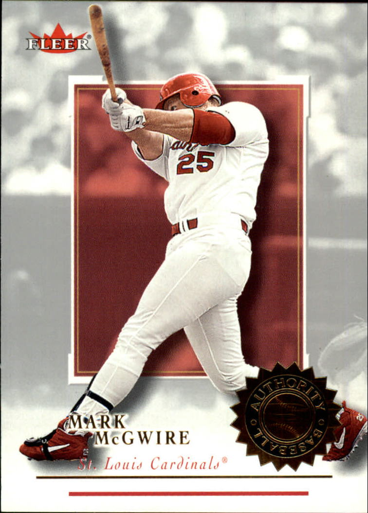 2001 Fleer Authority #14 Mark McGwire front image