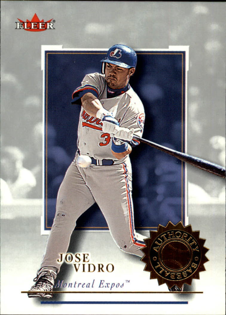 2001 Fleer Authority #20 Jose Vidro