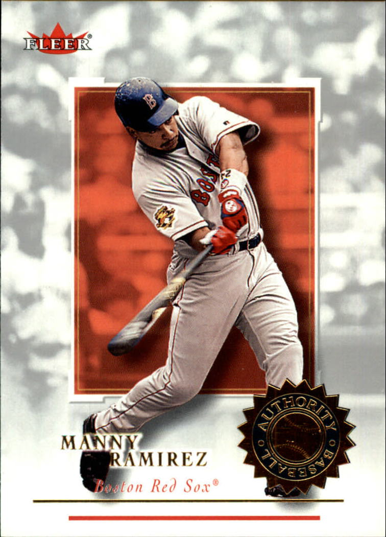 2001 Fleer Authority #53 Manny Ramirez Sox